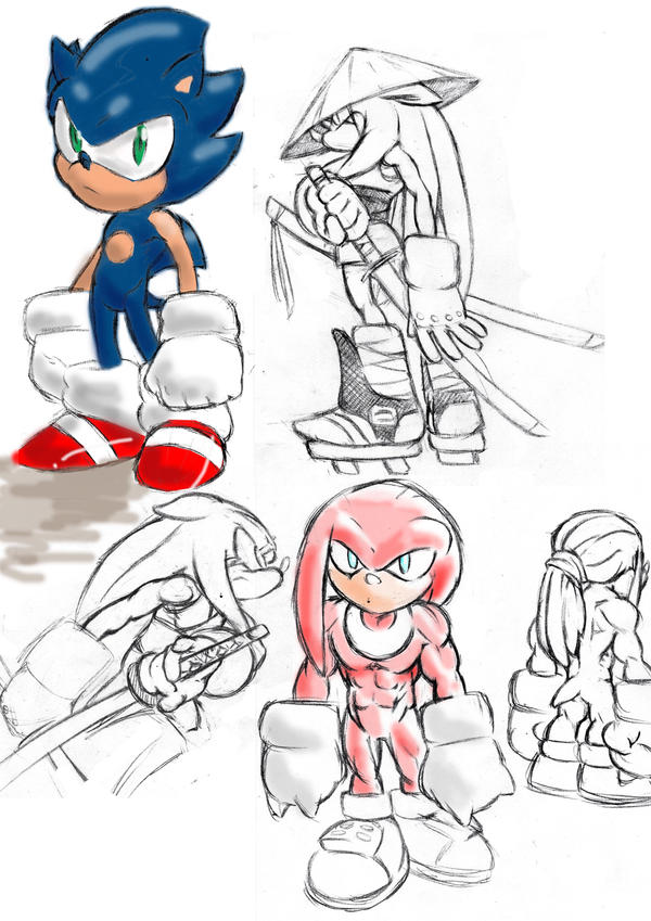 sonic sketches by lurkzie