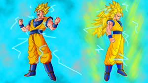 Goku power up