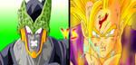 Cell vs Gohan by HayabusaSnake