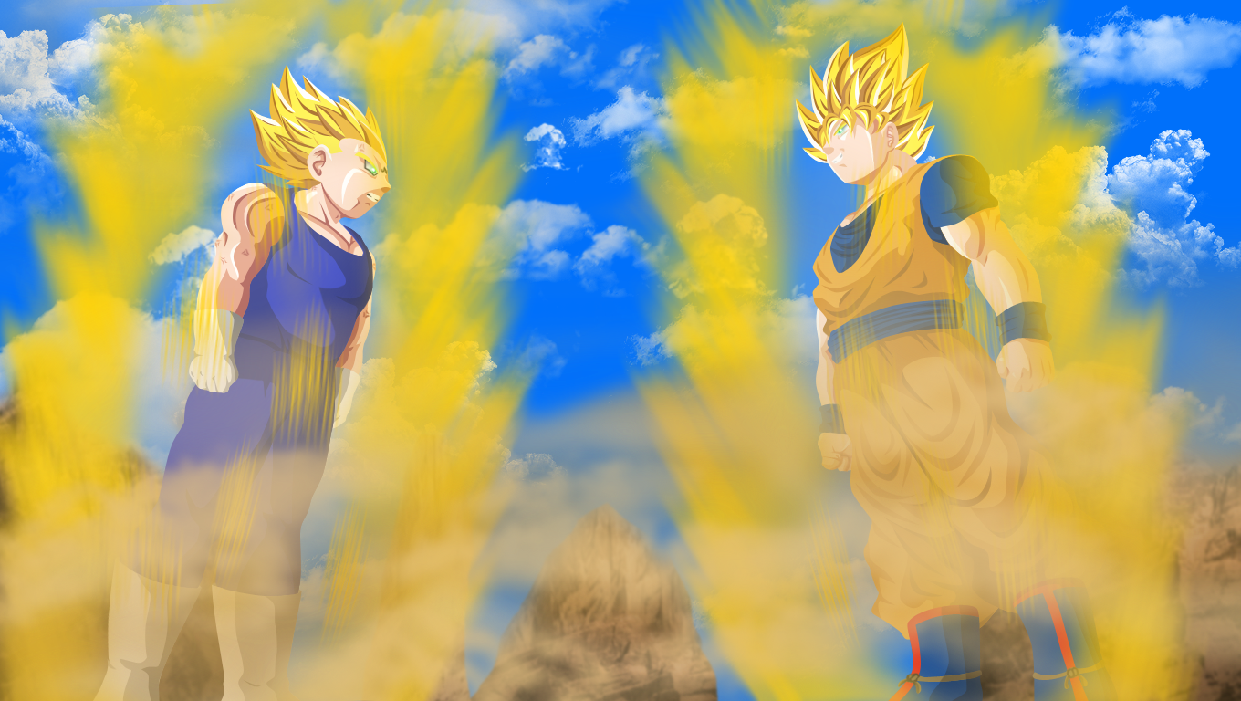 Goku Vs Majin Vegeta By HayabusaSnakeGoku Wallpaper