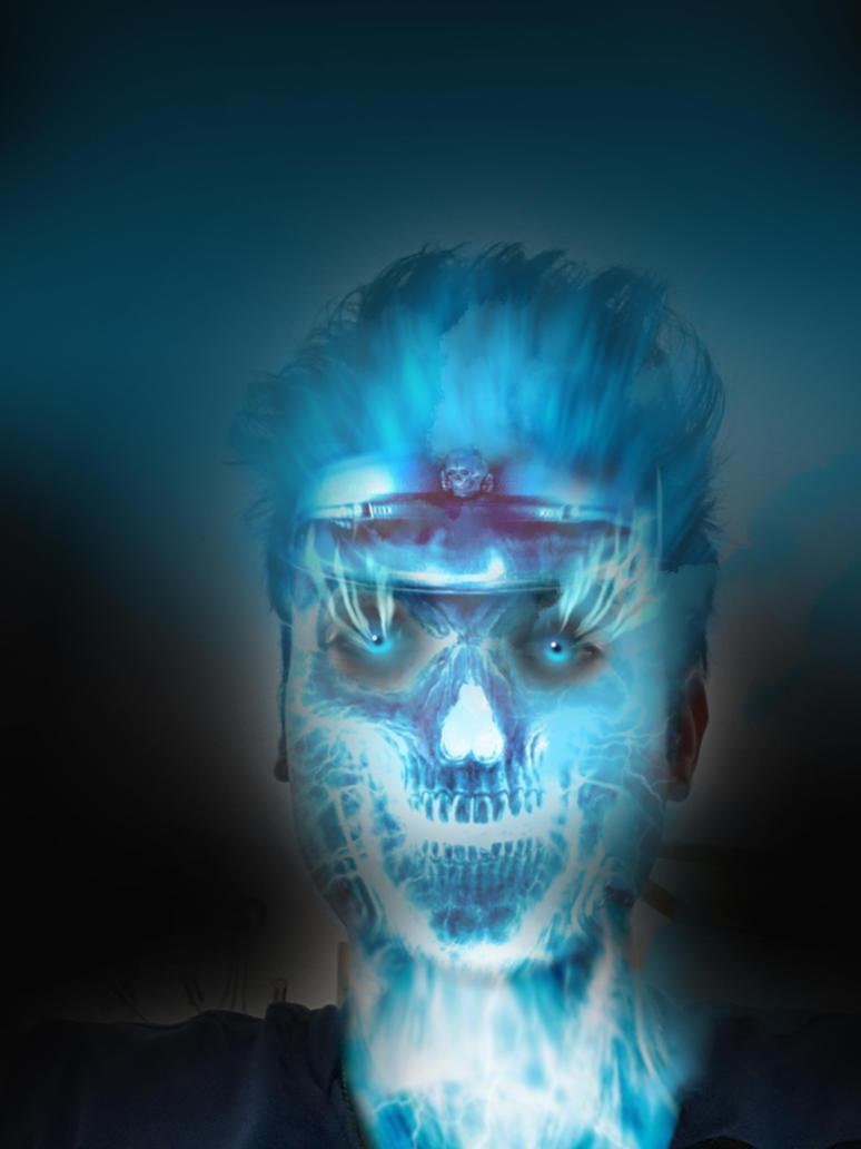 ice skull by HayabusaSnake