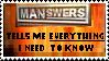 MANswers Stamp by KitthePyro