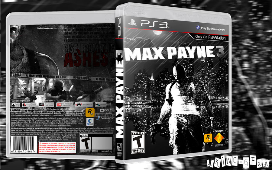 New Game Ps3 Max Payne 3 Blu Ray Cover By Hohogfx On Deviantart