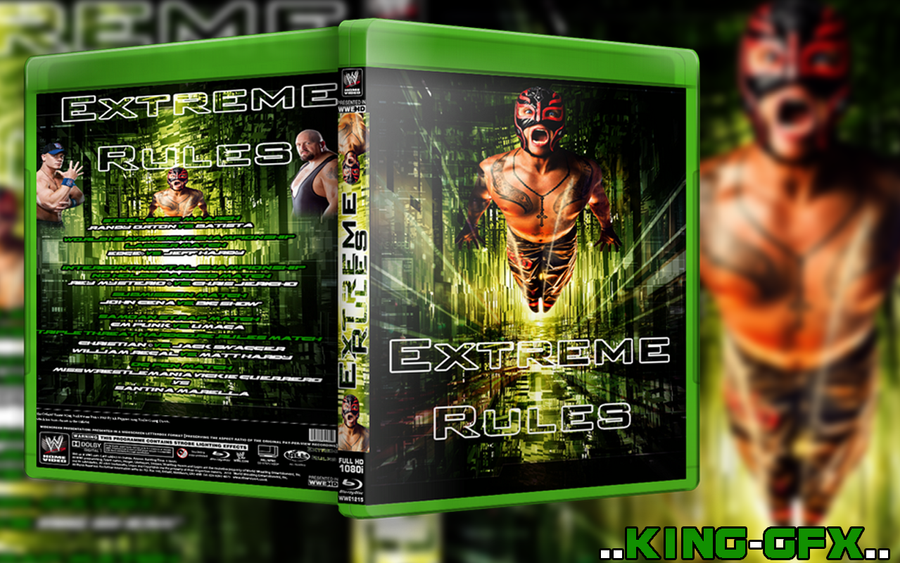 NEW WWE Extreme Rules 2009 BluRay Cover by hohogfx