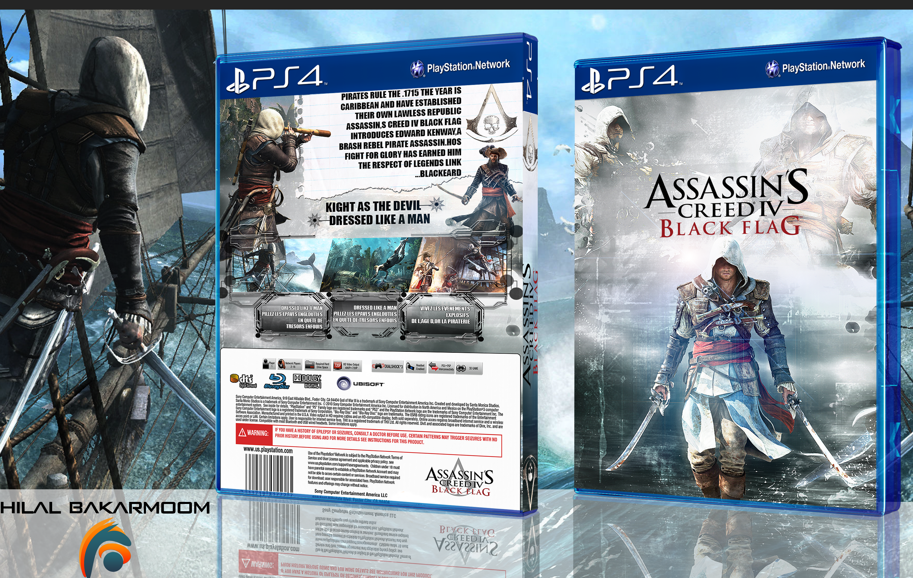 Assassin S Creed Iv Black Flag Box Cover Ps4 By Hohogfx On Deviantart