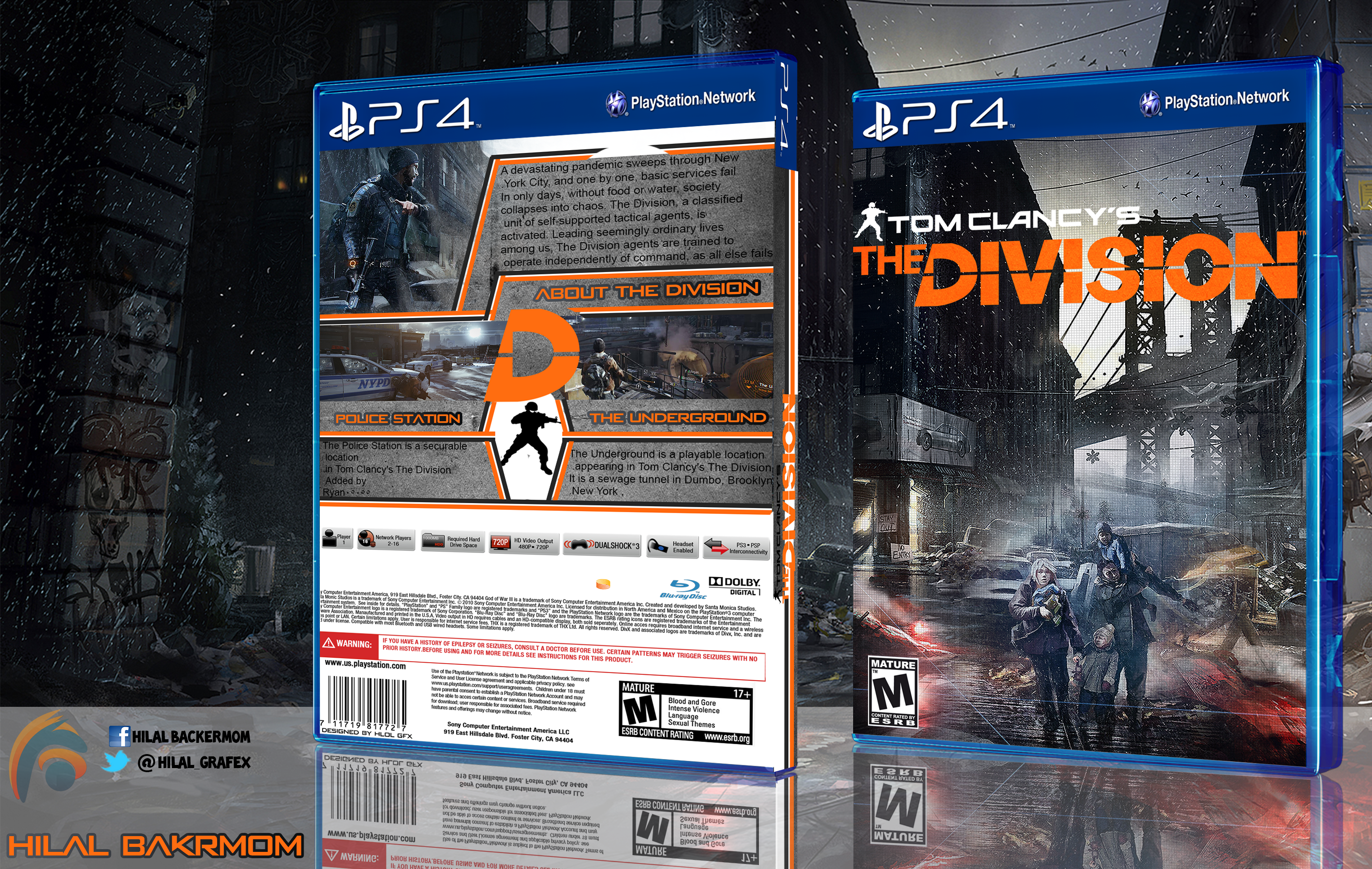 tom clancy 39 s the division box cover ps4 by hohogfx on deviantart. Black Bedroom Furniture Sets. Home Design Ideas
