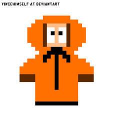 Kenny McCormick Pixel Art (South Park) by vincehimself