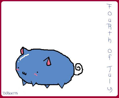 F0urth 0f July cat