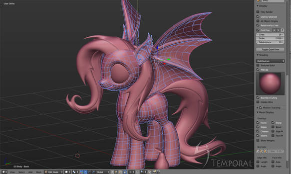 Flutterbat 3d downloadable (blend file)