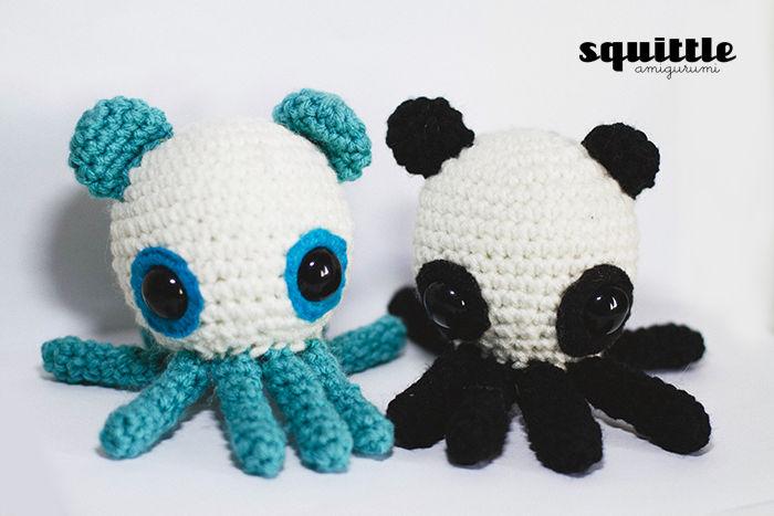 TINY PANDA crochet amigurumi panda small panda panda gift | Etsy | 467x700