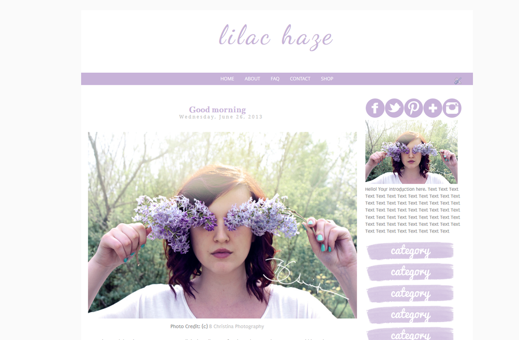 Lilac Haze Blogger Template by tiny-moon