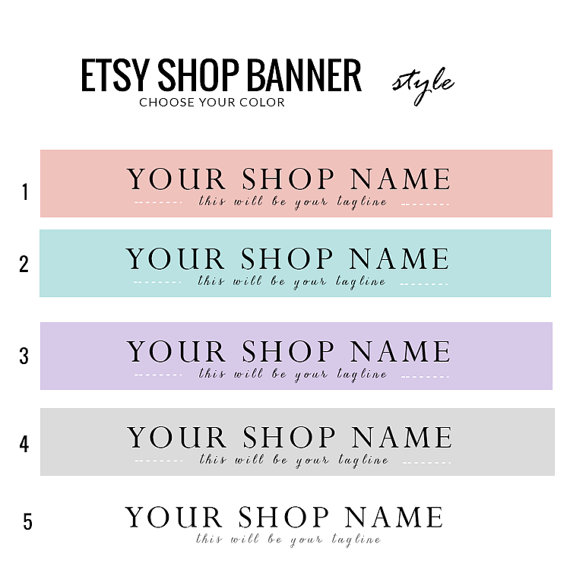 Etsy Banner- Style by candypow