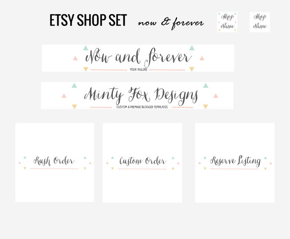 Etsy Banner and Shop Set by candypow