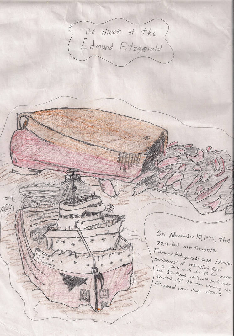 Wreck of the Edmund Fitzgerald by MichiganWolf