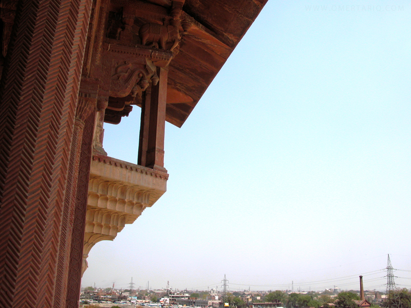 Balcony overlooking city by OmerTariq