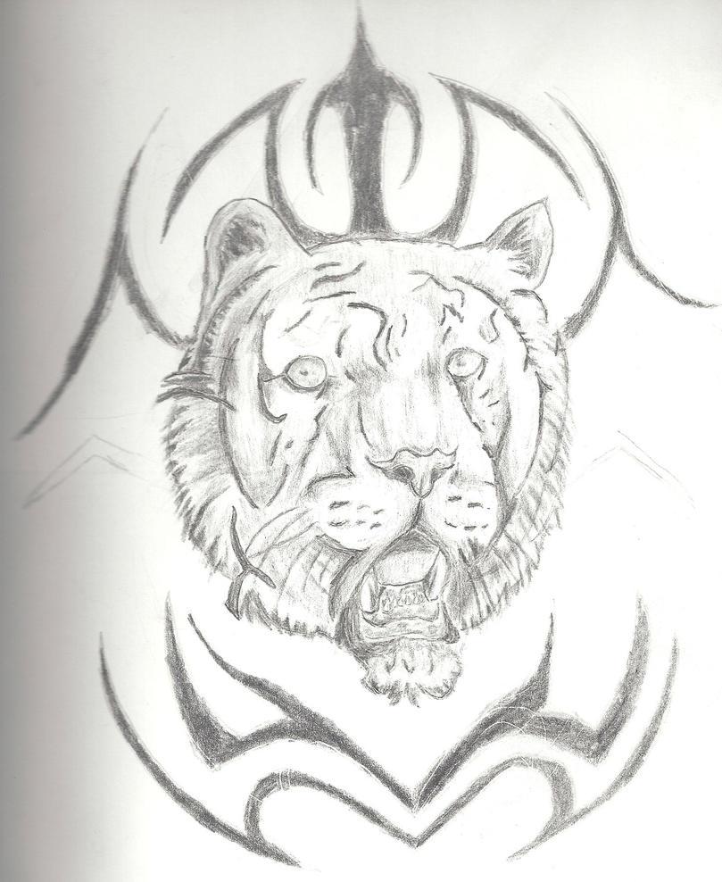 Tribal Tiger By Ruttan On Deviantart: Tribal Tiger By Theholytriforce On DeviantArt