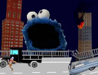 Cookie Monster Nightmare by OceanRailroader