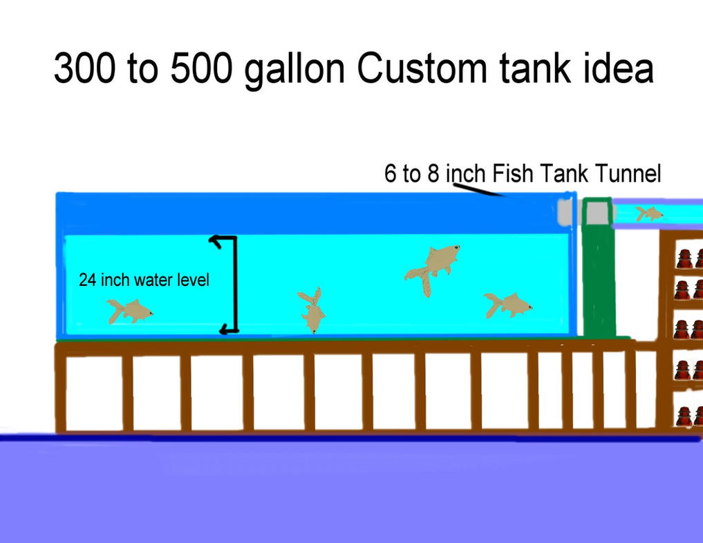 Fish tank dimensions - Custom 300 Gallon Acrylic Fish Tank By Oceanrailroader