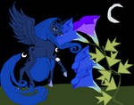 Luna out feeding