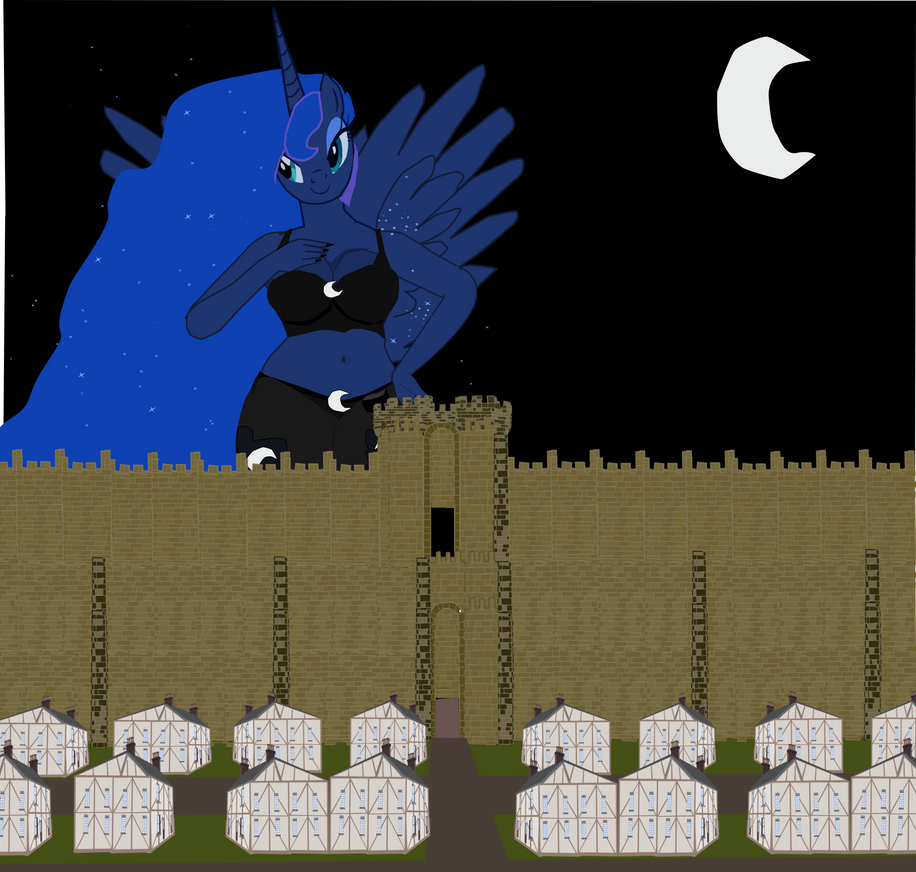 The mare mountain Luna comes the Lilliput Ball by OceanRailroader