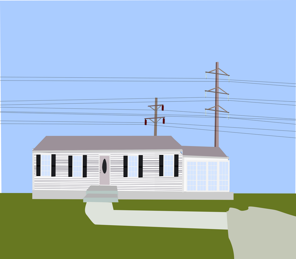Ned's house in the 1980's by OceanRailroader
