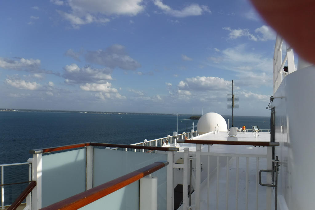 Sailing Out Of Tampa Florida On A Cruise Ship2 By