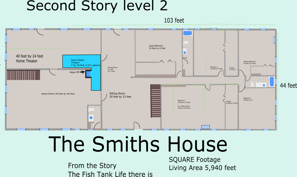 The smith 39 s house second floor house plan by for How to get floor plans of an existing building