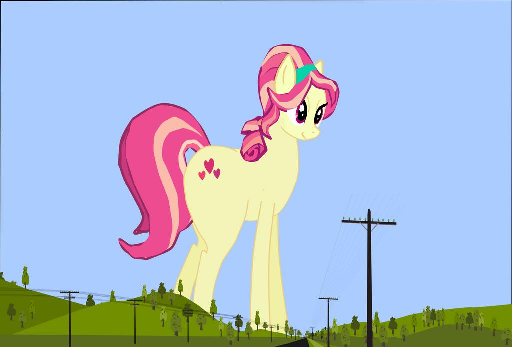 Applejack worried Scarlet hearts is near her farm by OceanRailroader