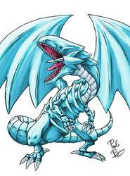 Blue Eyes White Dragon (Yu-Gi-Oh) by ToxicityDragon