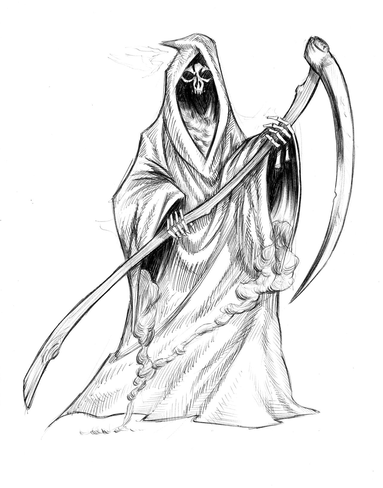 Grim Reaper 1 by sketchbencky5 on DeviantArt