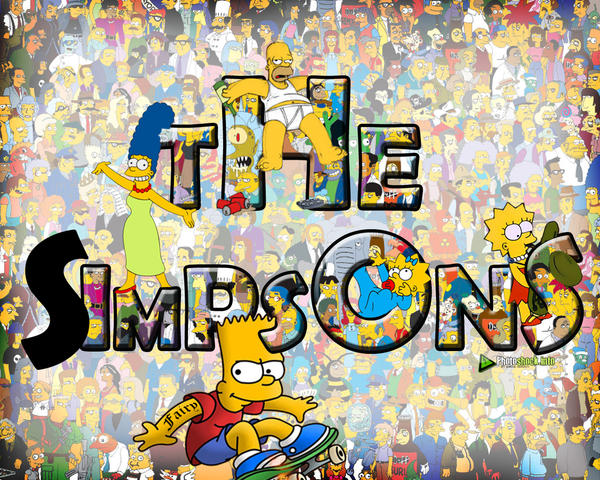 Simpsons wallpaper by fairym on deviantart for Simpsons wallpaper for bedroom