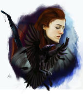 Ygritte and the crow by Lucaadel