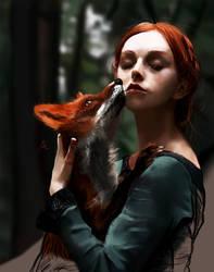 Fox whisperer by Lucaadel
