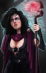 Adalbern the sorceress by Lucaadel