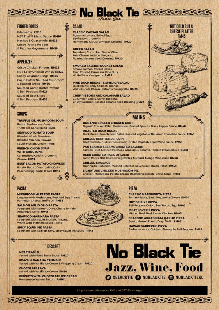 No Black Tie Menu By Instake On Deviantart
