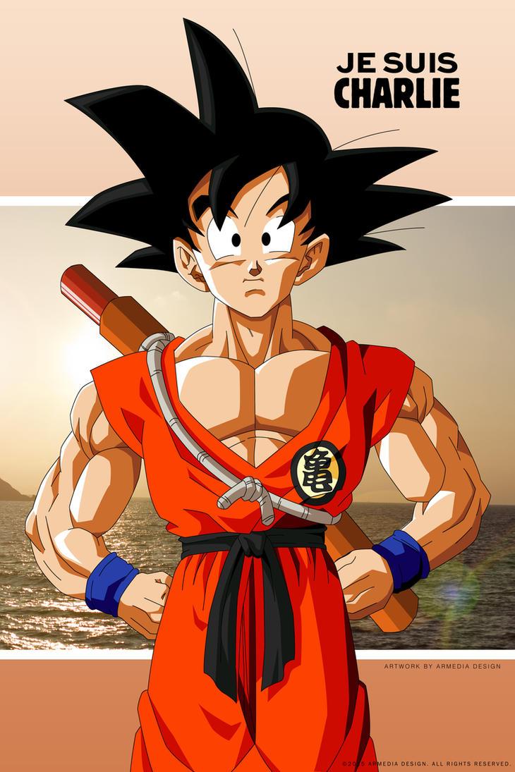Dragon Ball Z - Je suis Charlie - Goku by altobello02