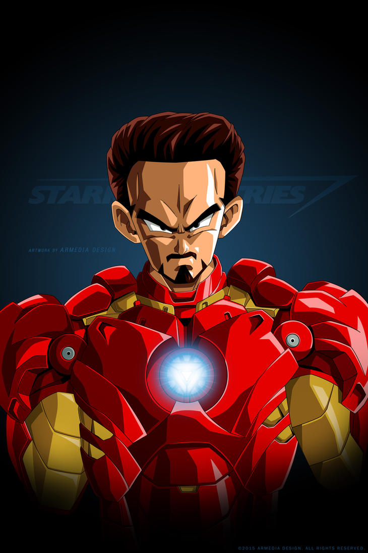 Dragon ball Z - The Avengers Project - Iron Man by altobello02