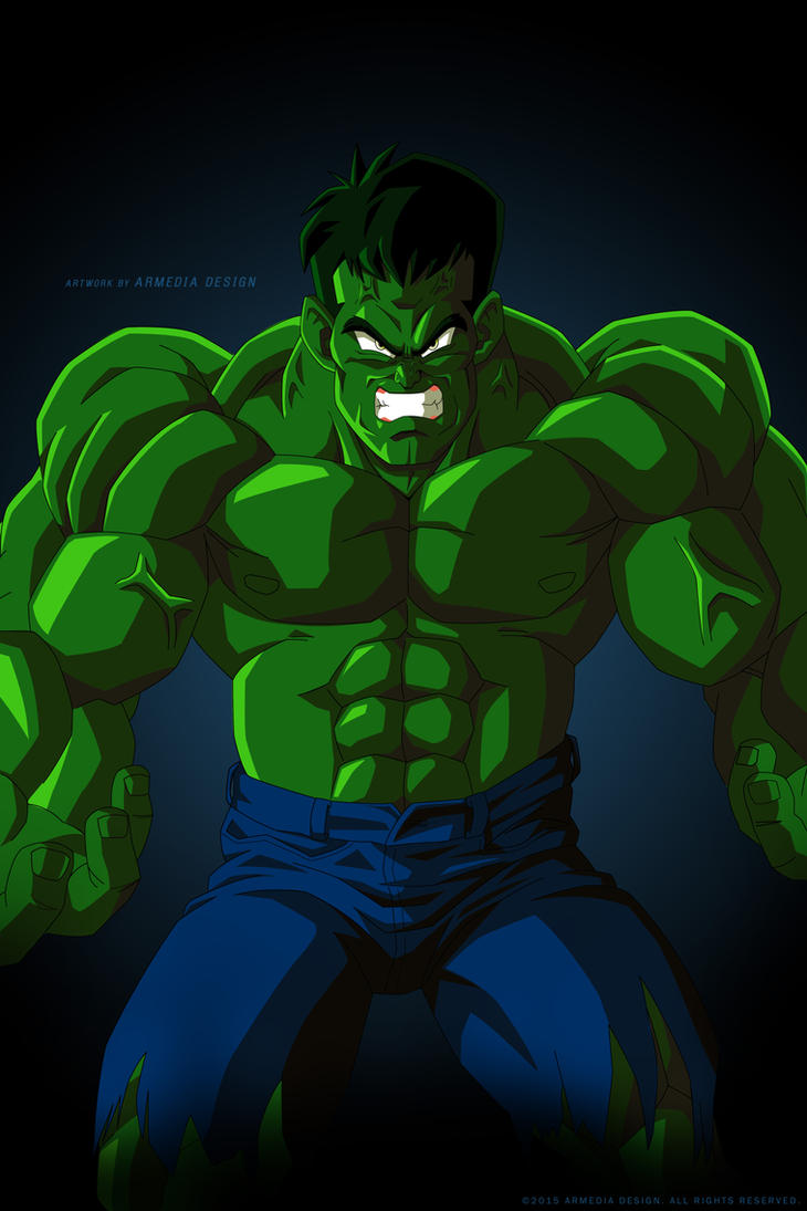 Dragon ball Z - The Avengers Project - The Hulk by altobello02