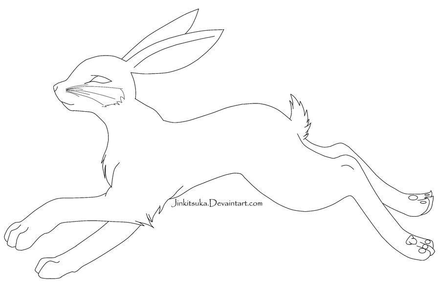 Line Art Rabbit : Free rabbit line art by jinkitsuka on deviantart