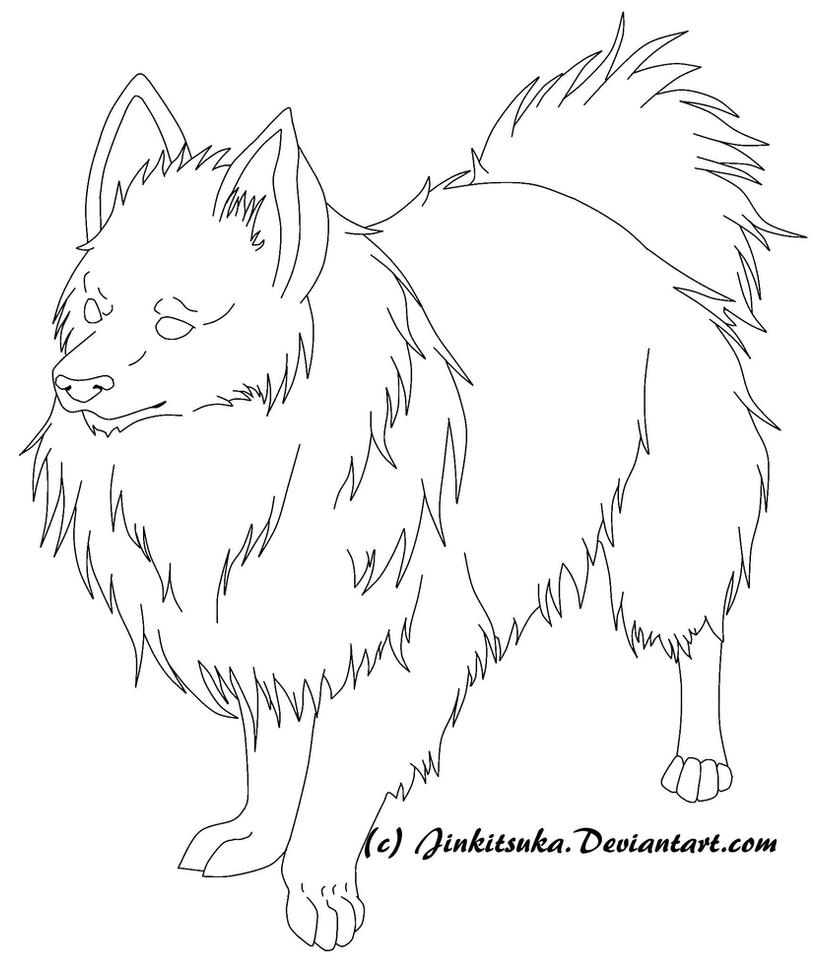 free Pomeranian line art by JinKitsuka on DeviantArt