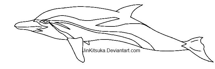 Line Art Dolphin : Free striped dolphin line art by jinkitsuka on deviantart