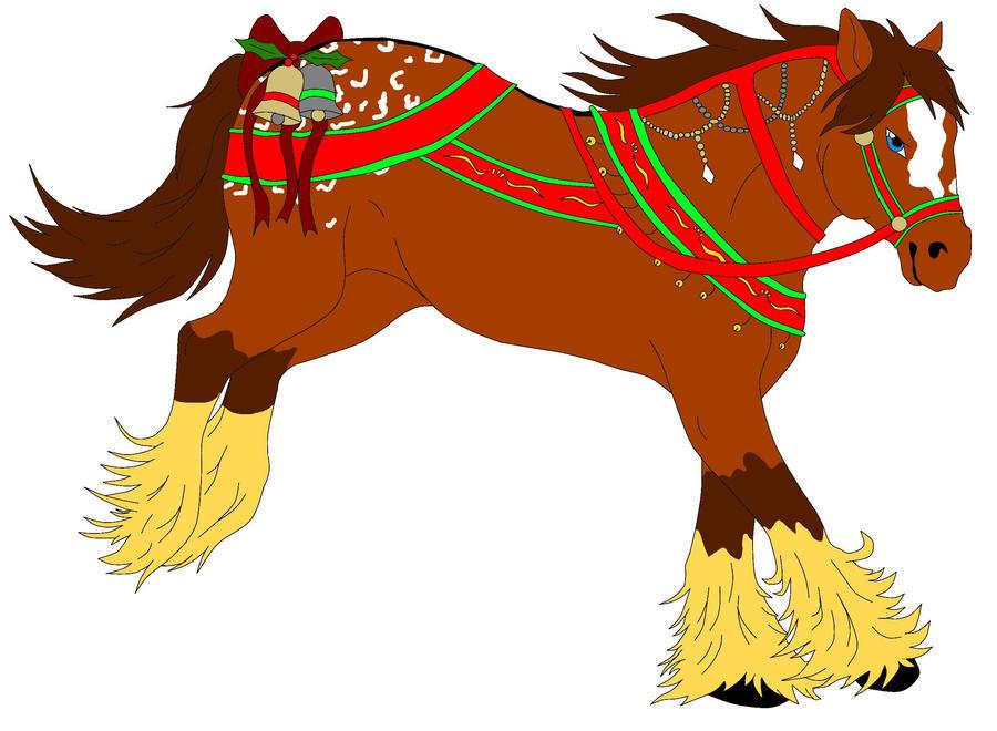 Christmas Horse Adoptable 1 by JinKitsuka on DeviantArt