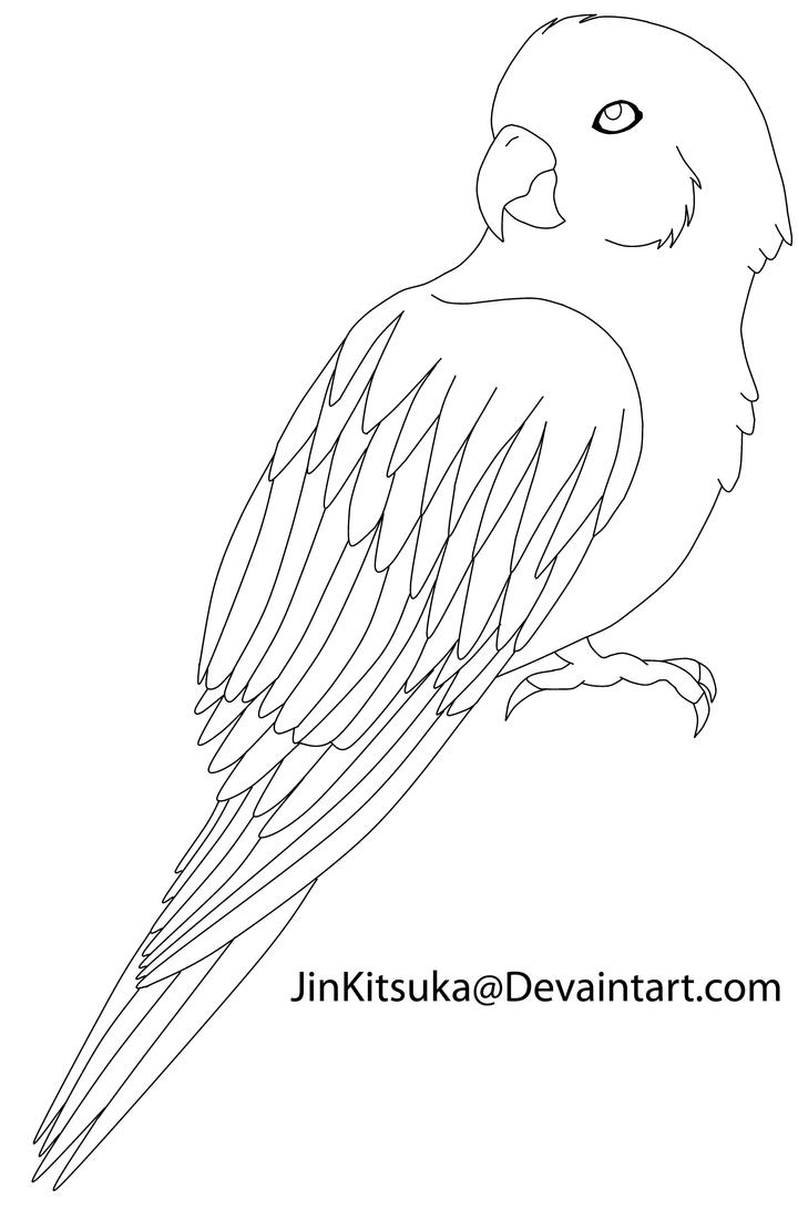Line Drawing Bird : Free bird line art by jinkitsuka on deviantart