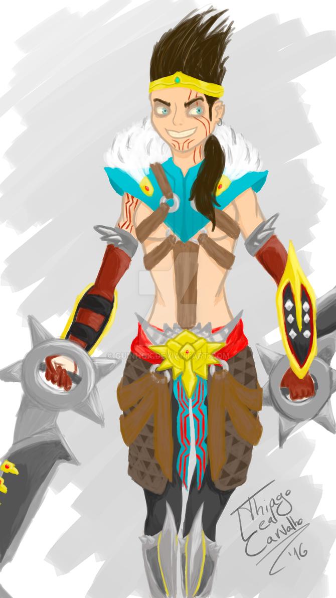 female Draaaaaven by GuinhoK