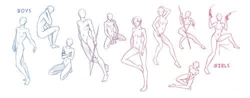 Male + Female Pose Refs