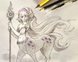Sketch #7: Centauride by Clareesi