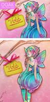 Violet - OOAK Paper Jointed Doll