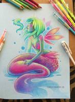 Prismacolor Mermaid by Clareesi