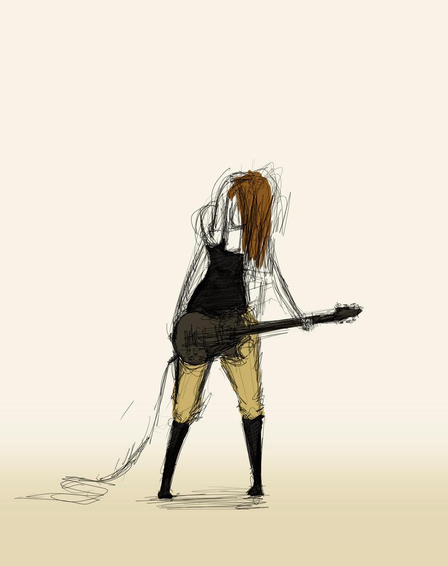 Shy guitar player by apelsinchoklad on deviantART
