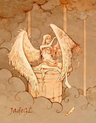 Angel grooming himself by JadeGL